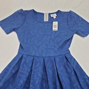 LulaRoe Royal Blue Floral Amelia Dress